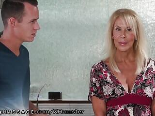 Mature Mommy Joins in Stepson's Nuru Massage